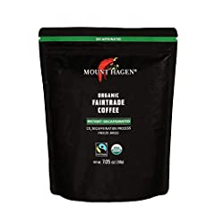 MOUNT HAGEN: The trailblazer of organic Fair Trade coffee production, the conscience of the global coffee industry RESEALABLE DOYPACK: Resealable bag to keep your best instant coffee fresh, expertly packed to protect the granules BULK VALUE: 7.05 oz ...