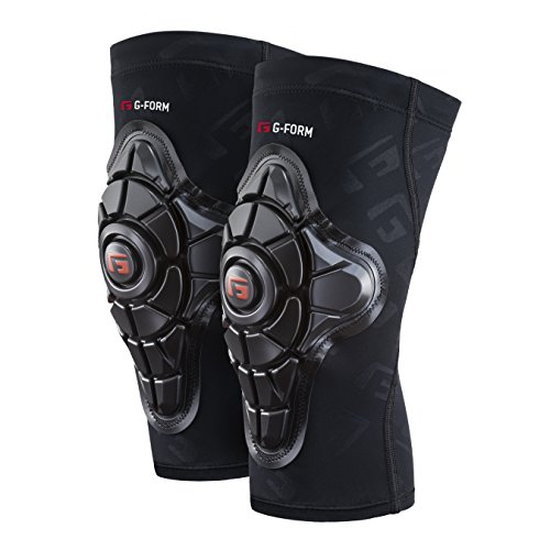G-Form Men's Pro-X Knee Pads for Mountain Bike, Skate-Board, Snowboard, Cycling, BMX, E-bikes. Providing High Impact Protection and Enhanced Flexibility - Black G Embossed - Medium