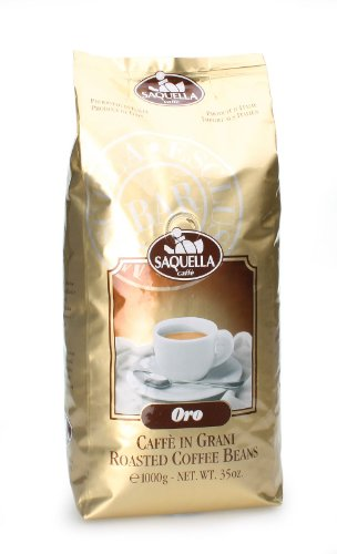Saquella Espresso Selezione Oro Exclusiv Bar Rainforest 1 Kg ganze Bohne