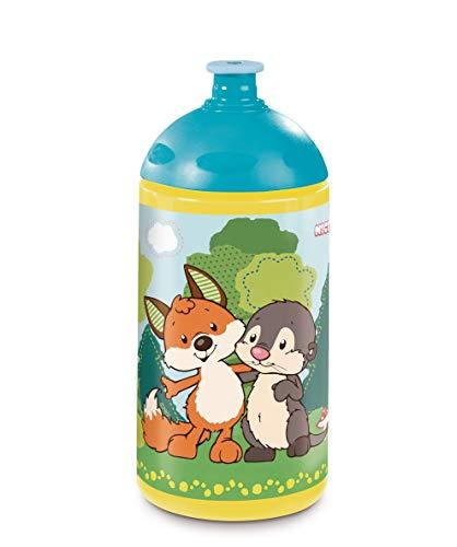 Nici 45465 Trinkflasche, Forest Friends, 0,5l, gelb