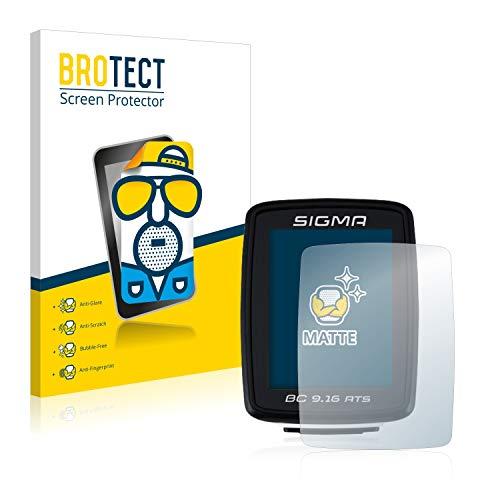 BROTECT 2X Entspiegelungs-Schutzfolie kompatibel mit Sigma BC 9.16 ATS Displayschutz-Folie Matt, Anti-Reflex, Anti-Fingerprint