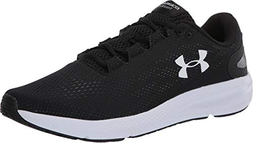 Under Armour Men's Charged Pursuit 2 Running Shoe, Black (001)/White, 10 M US