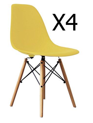 Lot de 4/embouts Adsamm/® Pour les pieds de chaises en acier tubulaire Avec du feutre Transparent Rond 18/mm de diam/ètre