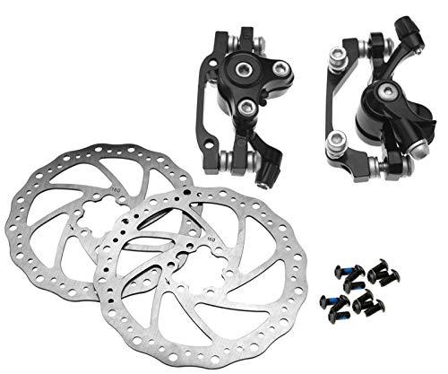 Fahrrad Scheibenbremsen Satz Scheibenbremsen-Bremssattel für vorne und hinten, 160mm, Aluminiumlegierung MTB Rennrad