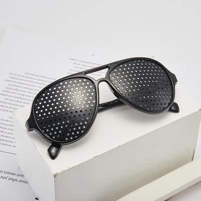 weichuang Gafas de sol de moda con personalidad Pinhole para hombre 2020 decorativas, gafas de sol para mujer, estilo retro, sapo, color negro;