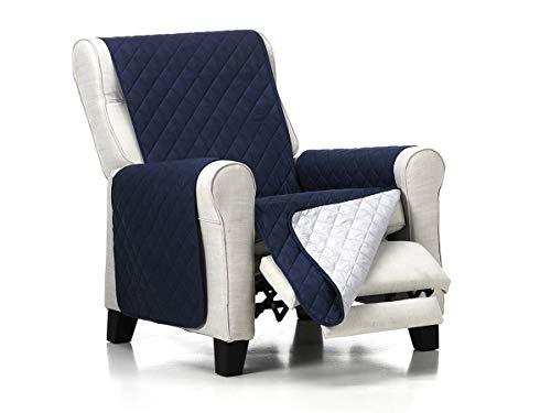 Lanovenanube Belmarti - Funda sillón Acolchado - Práctica - 1 Plaza - Color Azul C04