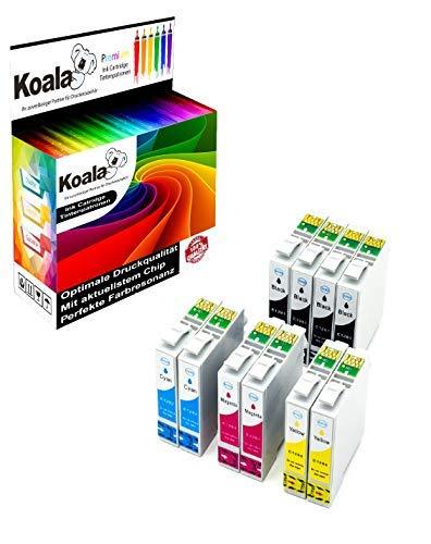 Koala 10 Cartuccia d'inchiostro Compatibili per Epson T1281 T1282 T1283 T1284 per Epson Stylus S22 SX125 SX130 SX230 SX235W SX420W SX425W SX430W SX435W SX445W (4*Nero 2*Ciano 2*Magenta 2*Giallo)