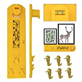 Picture Hanging Tool Planet1 Level Marking Ruler for Marking Horizontal Position and Picture Wall Hanging Kit