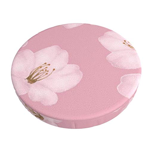 Round Bar Stools Cover,Aquarell Lila Kirschblüte Sakura,Stretch Chair Seat Bar Stool Cover Seat Cushion Slipcovers Chair Cushion Cover Round Lift Chair Stool
