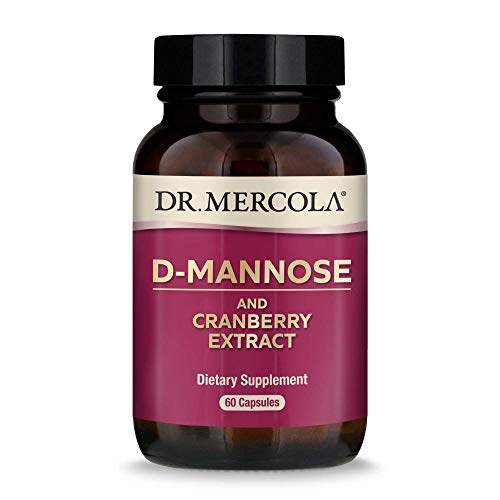 Dr. Mercola, D-Mannose and Cranberry Extract, for Women and Men, Promotes Urinary and Bladder Health, 30 Servings (60 Capsules), Non GMO, Soy Free, Gluten Free