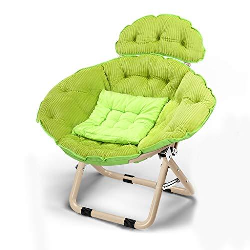 Chaises Longues Canapé Paresseux Sol Fauteuil Avec Coussin D'assise Détachable Chambre Bureau Folding Reclining Chairs Plage Jardin Extérieur (Color : D, STOOL : 1)