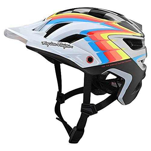 Troy Lee Designs Born from Paint Adult   Trail   XC   Mountain Bike A3 Sideways Helmet (White/Gray, XS/SM)