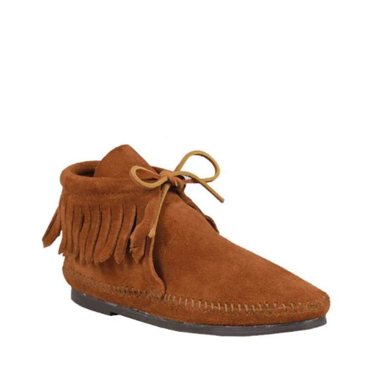 議論する社説要塞[ミネトンカ] 682 CLASSIC FRINGE BOOT クラシック フリンジ ブーツ US5(約21.5-22.0cm) Brown(682)(並行輸入品)