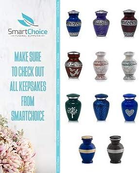 SmartChoice Royal Cremation Urn for Human Ashes Affordable Funeral Urn Adult Urn for Ashes Handcrafted Urn Light Blue