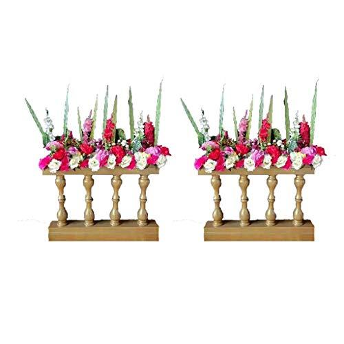 DaPeng Blumenständer, 2 Stücke schmiedeeiserner Zaun Hochzeit Straßenführer Bühne Zaun Restaurant romantische Schmuckstücke (OHNE Blumen) (Farbe : Gold)