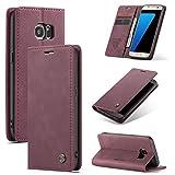 Sacchetto del telefono portatile For custodia for portafoglio in pelle PU Samsung Galaxy S7 Premium PU, 2 in 1 flip con portafoglio con portafoglio con portafoglio con portafoglio, pelle morbida opaca