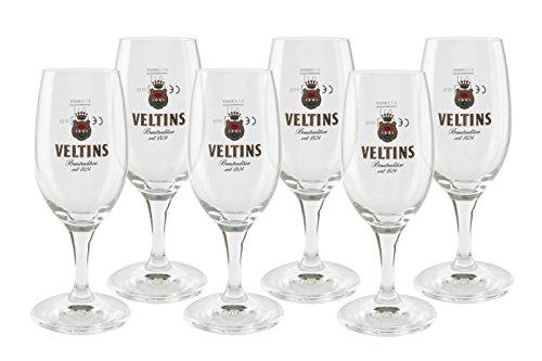 Veltins Pokale Tulpen Gläser-Set - 12er Biergläser 12x 0,3l geeicht