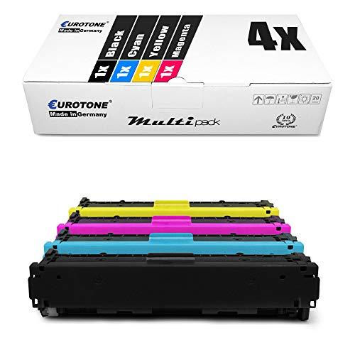 4X Eurotone kompatibler Toner für HP Color Laserjet CP 1210 1213 1214 1215 1217 1513 1514 1515 1516 1517 1518 1519 NI N ersetzt CB540A-43A 125A