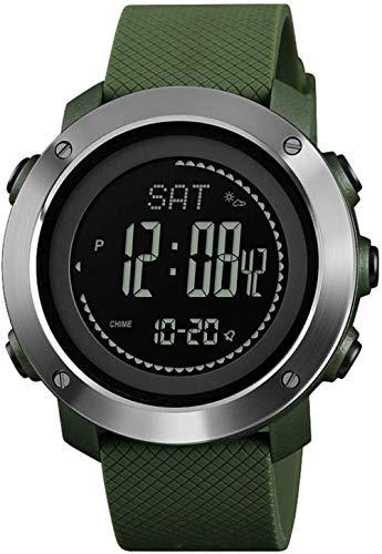 JSL Pointer deportes reloj inteligente al aire libre de los hombres s profesional impermeable reloj digital reloj Bluetooth reloj-Armygreen