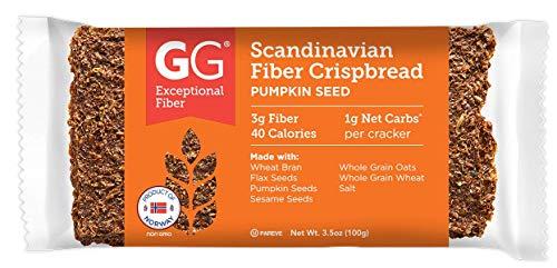 GG Scandinavian Fiber Crispbread, Pumpkin Seed, 3.5 Oz (Pack of 15)