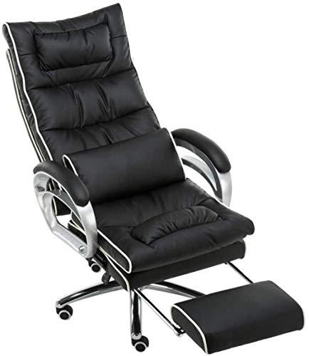 Möbel entworfen Massage Gaming Chair Polster Bürodrehstuhl in Schwarz + Weiß Farbe Computer-Schreibtisch-Stuhl Sessel