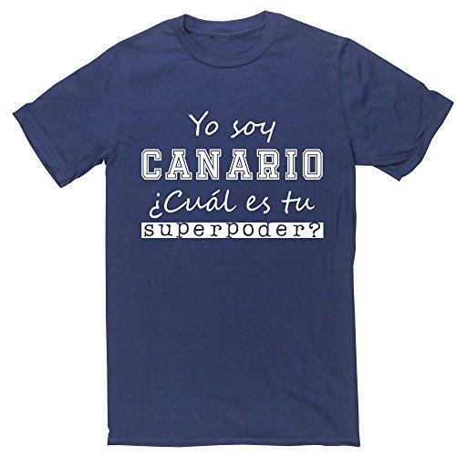 HippoWarehouse Soy Canario, ¿Cuál es tu Superpoder? Camiseta Manga Corta Unisex