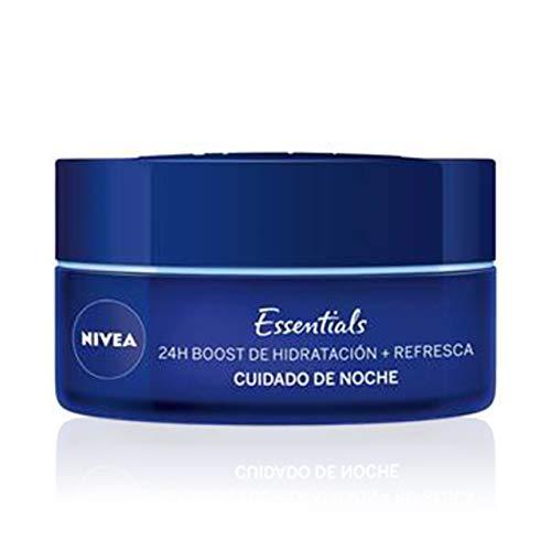 NIVEA 24H Boost de Hidratacion + Refresca Cuidado de noche - Crema para piel normal y mixta - 50 ml