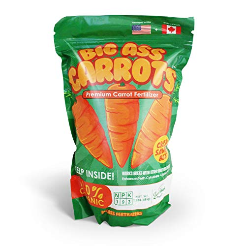 Ludicrous Nutrients Big Ass Carrots Premium Carrot and Root Vegetable Fertilizer and Carrot Nutrients Indoor or Outdoor (1.5 lbs)