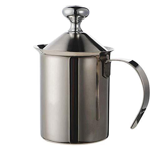 Montalatte Manuale Montalatte, in acciaio inox pompa a mano della Milk Foamer, Macchina da presa latte che schiuma Brocche, Manuale Operated creatore del latte in schiuma for Cappuccions e Caffè Latte