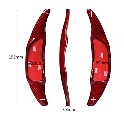 For Mercedes Benz AMG A45 CLA45 C63 S63 GLA45 GLE63 2015-2018 E GLS63 CLS CLS63 2017-2018 Carbon Fiber Car Steering Wheel Shift Blade Paddle Shifter Extension (Black)