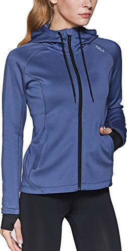 Lightweight Athletic Workout Jackets TSLA Womens Full Zip Running Track Jackets Active Sports Yoga Jacket