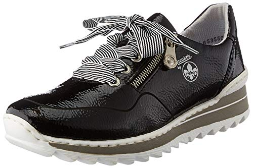 Rieker Damen M6901 Sneaker, schwarz, 40 EU