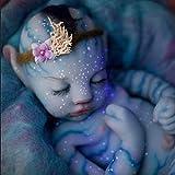 30/55cm Luminosa Muñeca de Silicona con Ojos Cerrados, Bebé Renacido, Muñeca Realista, Las Extremidades Son Suaves y Flexibles Realista Bebé Reborn
