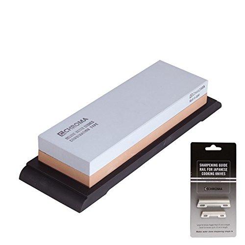 Chroma Schleifstein 240/1000 breit + Schleifhilfe ST-825