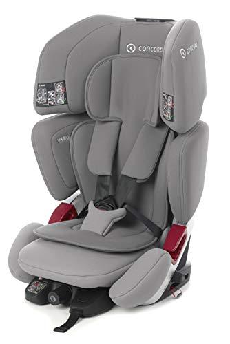 Concord Vario XT-5 Kindersitz Gruppe 1 2 3, von 9 bis 36 kg, von 1 bis 12 Jahre, Isofix und Top Tether, Farbe Grau (CLOUD GRAY)