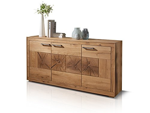 moebel-eins Winston I Sideboard, Material Massivholz, Wildeiche geölt