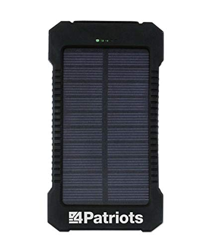 4PATRIOTS: Patriot Power Cell USB Solar Charger - Portable Battery - 8,000 mAh