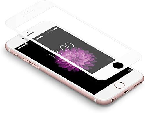 "Coolreall Schutzfolie kompatibel for iPhone 6 Plus/ 6S Plus , Full Screen Curved Panzerglas kompatibel für iPhone 6 Plus/ 6S Plus 6 5,5"", [9H Härtegrad, 3D-Touch kompatibel] (Weiß)"