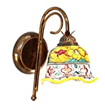 ILAB Applique in ferro battuto 1 luce con ceramica coll. giulia,monta 1 lampadina e14 attacco piccolo da 40w,Larghezza: 15cm, Altezza: 27cm,applique 1 luce