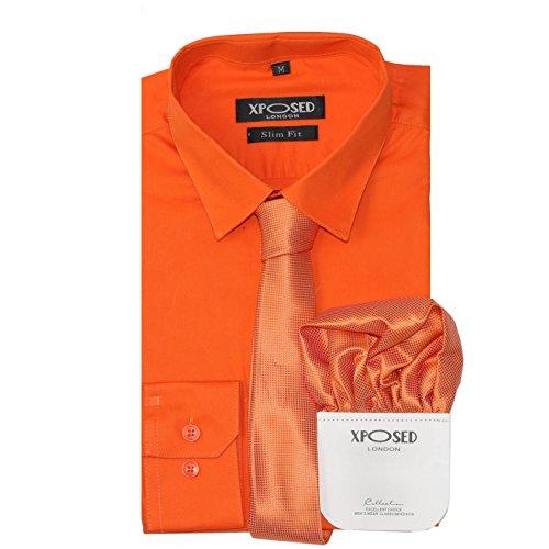 Xposed Conjunto de regalo para hombre, de algodón clásico, entallado, camisa, corbata, conjunto de regalo,...