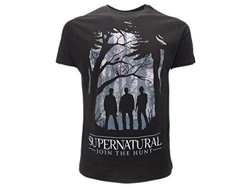 T-Shirt Originale Supernatural Join The Hunt con cartellino ed Etichetta di originalità Maglia Maglietta (M Adulto)