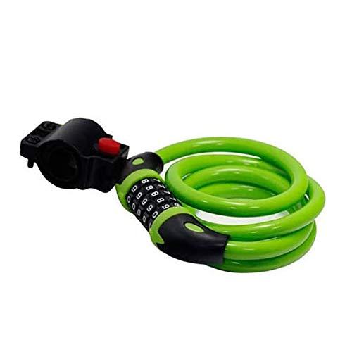 JKHK Bike Lock with 5-Digit Resettable Number,120cm/12mm Heavy Duty Chain Lock, Combination...