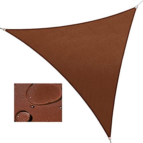 ZZXY Vela de Sombra Triangular,Protección Rayos UV Impermeable Resistente toldo Vela,para Exterior, Jardín, Terrazas