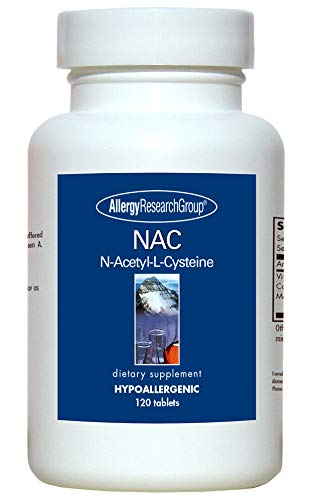 Allergy Research Group NAC N-Acetyl-L-Cysteine 120 Tablets