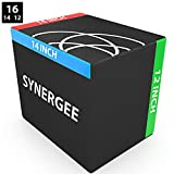 Synergee 3 in 1 Soft Plyometric Jump Box for Jump Training and Conditioning. Ouch Proof Plyo Box All in One Jump Trainer. Size - 16/14/12