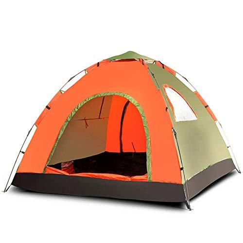 ZHDP Tienda de Campaña Camping,Up Tienda de Campaña Camping for Family 2-4 Person Ultralight Backpacking Tent for Hiking Camping Outdoor Waterproof Naranja