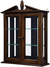 Design Toscano Amesbury Manor Hardwood Wall Curio Cabinet: Mahogany Finish