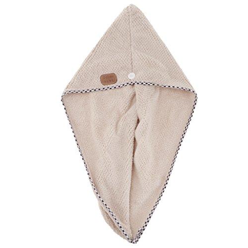 MERIGLARE Turban Dry Shower Enveloppement De Cheveux En Microfibre Spa De Séchage De Serviette - Gris