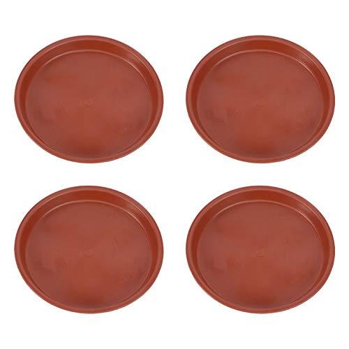 Yardwe 10 Pezzi Plastica sottovasi per Bonsai Rotonda sottovasi Balcone sottovasi fioriere sottovasi per Fiori da Interno per Piante da Giardino 15,5 x 15,5 x 1,5 cm (Rosso)