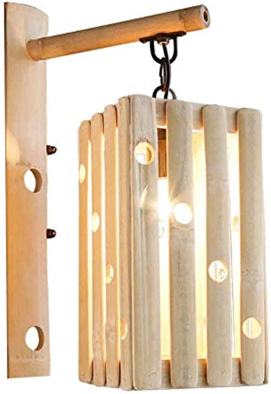 Kreative Holz Vintage-Wandleuchte, Rustikal E27 40W Wandhalterung Nachttischlampe Leselicht für Wohnzimmer Küche Flur Balkon Treppen